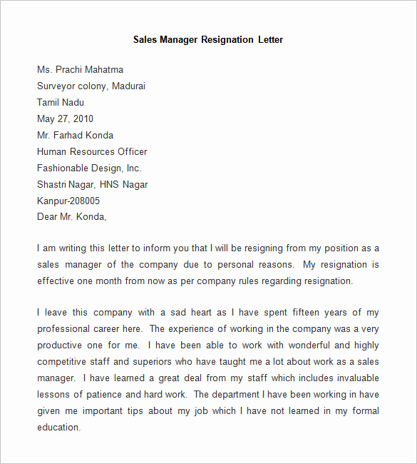 Letter Of Resignation Template Word Beautiful Resignation Letter Template 25 Free Word Pdf Documents