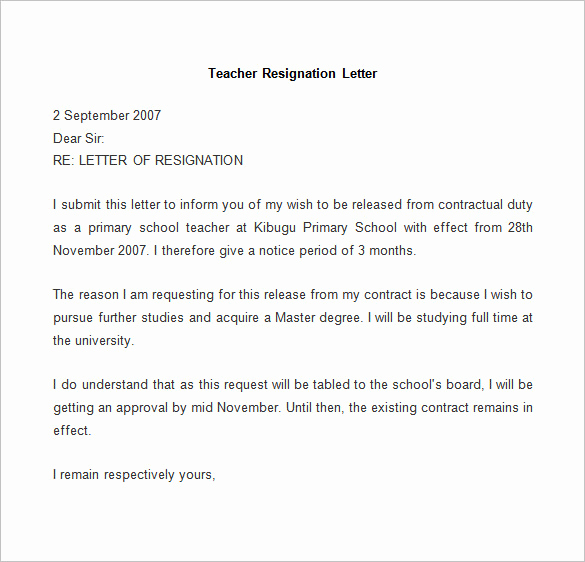 Letter Of Resignation Template Word Fresh Resignation Letter Template 25 Free Word Pdf Documents