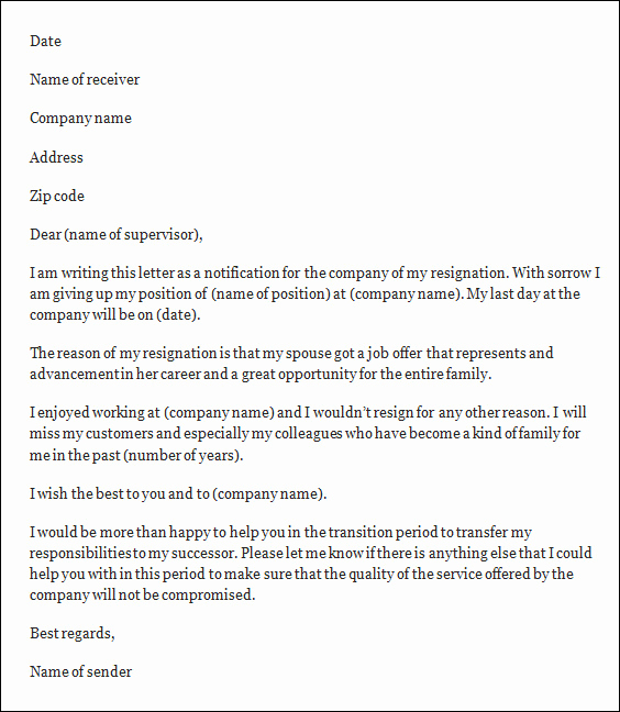 Letter Of Resignation Template Word Fresh Resignation Letter Template Free Resignation Letter Template