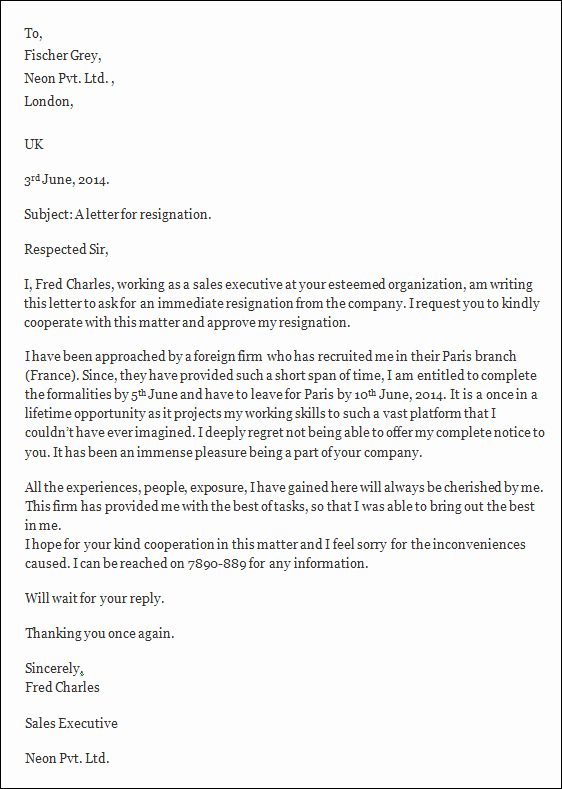 Letter Of Resignation Template Word New Resignation Letters 35 Download Free Documents In Word