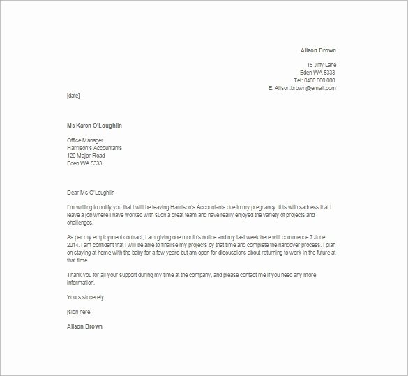 Letter Of Resignation Template Word Unique 6 Resignation Letters with Plaint – Find Word Letters
