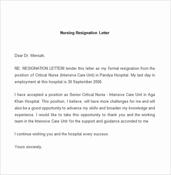 Letter Of Resignation Templates Best Of Download Free Resignation Letter Samples Nix