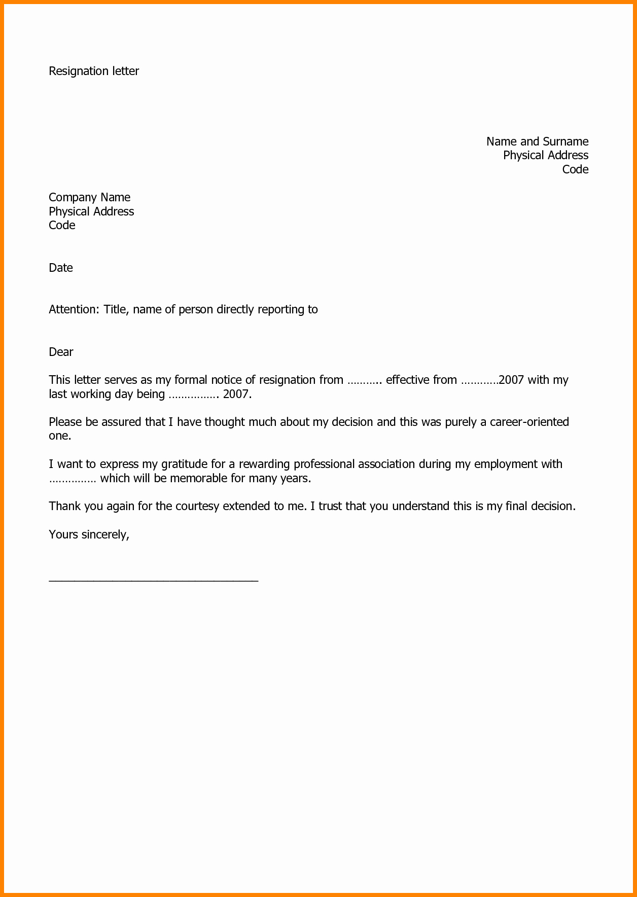 Letter Of Resignation Templates Best Of Pin by Mike Marischler On Health