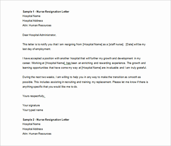Letter Of Resignation Templates Word Awesome Resignation Letter Template – 40 Free Word Pdf format
