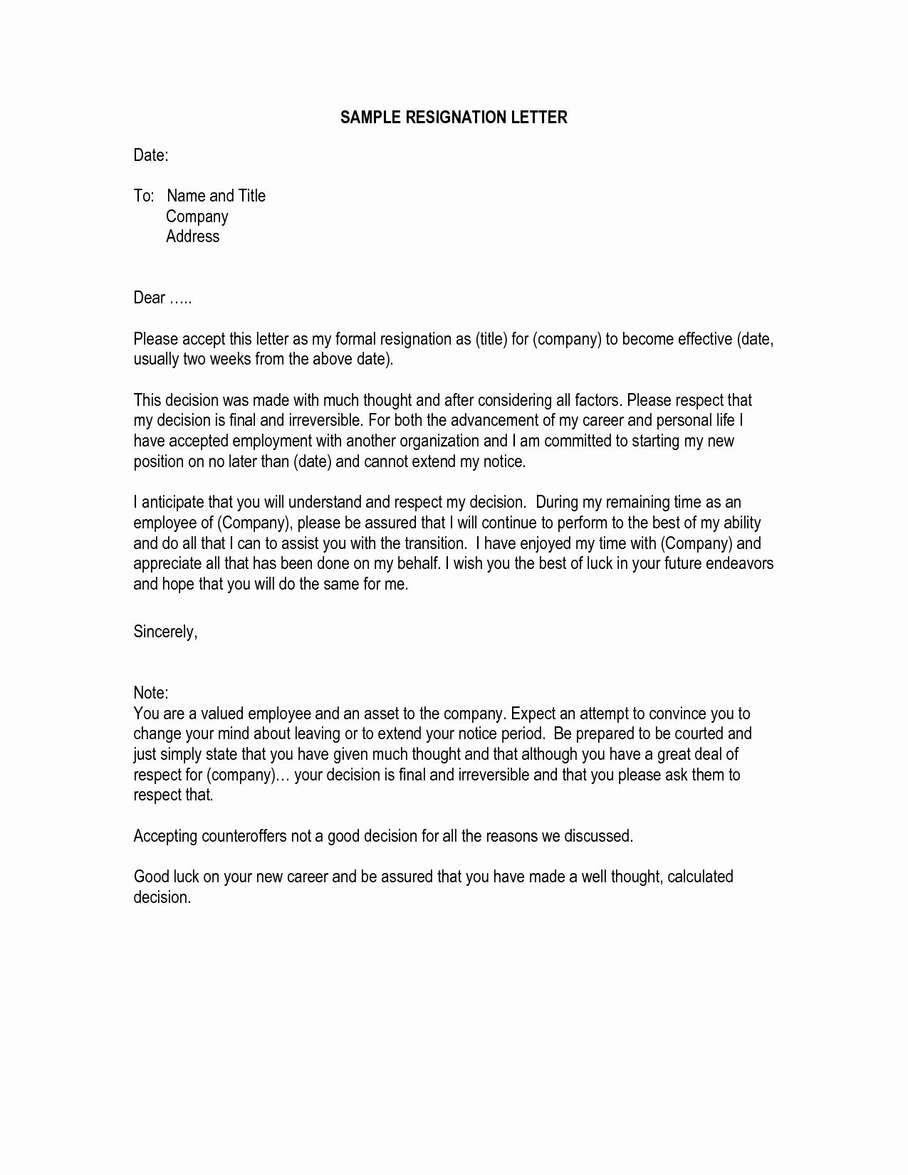 Letter Of Resignation Templates Word Beautiful Letter Of Resignation Template Word Letter Of Resignation
