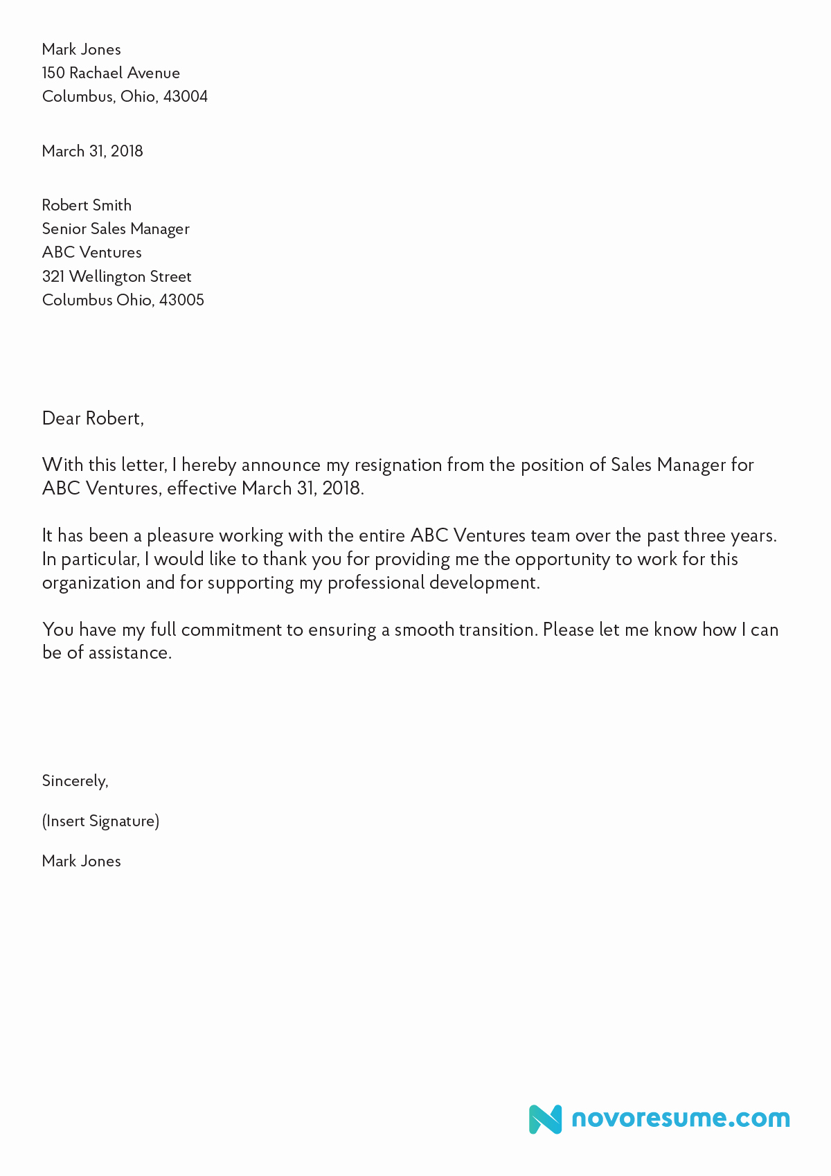 Letter Of Resignation Templates Word Inspirational Resignation Letter Template