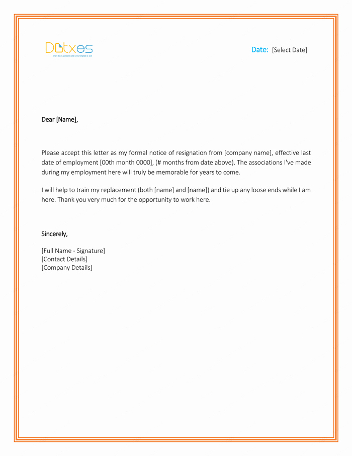 Letter Of Resignation Templates Word Luxury 5 Resignation Letter Templates to Write A Professional