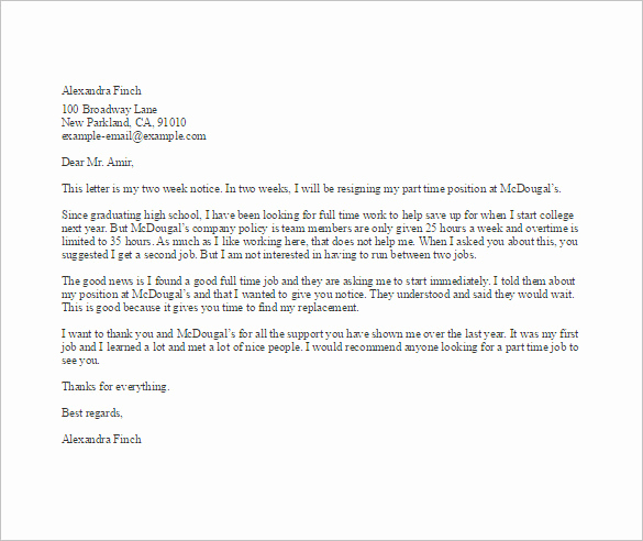 Letter Of Resignation Templates Word Unique Simple Resignation Letter Template – 15 Free Word Excel