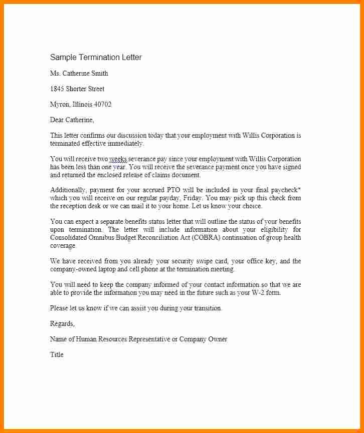 Letter Of Termination Of Employee Unique 5 Employment Agreement Letter