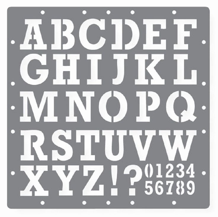 Letter Stencils to Print Awesome Free Printable Letters and Numbers
