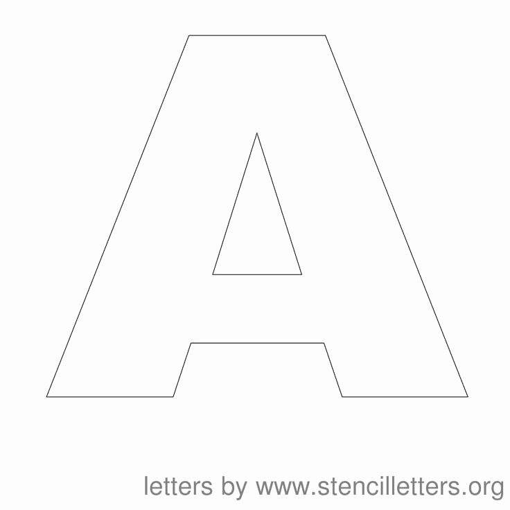 Letter Stencils to Print Elegant Free Printable Letter Stencils