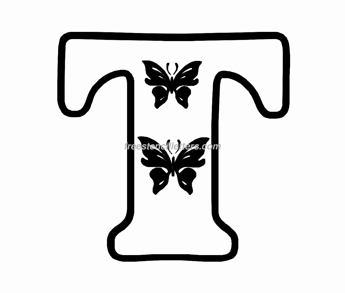 Letter Stencils to Print Fresh butterfly Stencil Letters Archives Free Stencil Letters