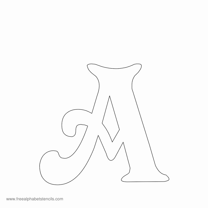 Letter Stencils to Print Fresh Free Printable Stencils for Alphabet Letters Numbers