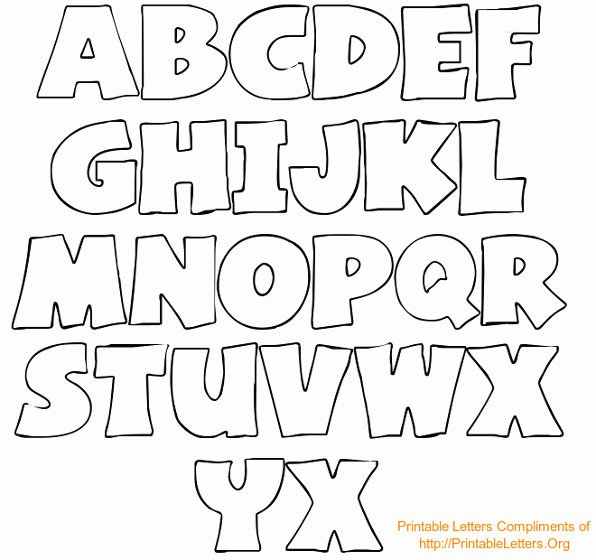 Letter Stencils to Print New Free Printable Bubble Letter Stencils