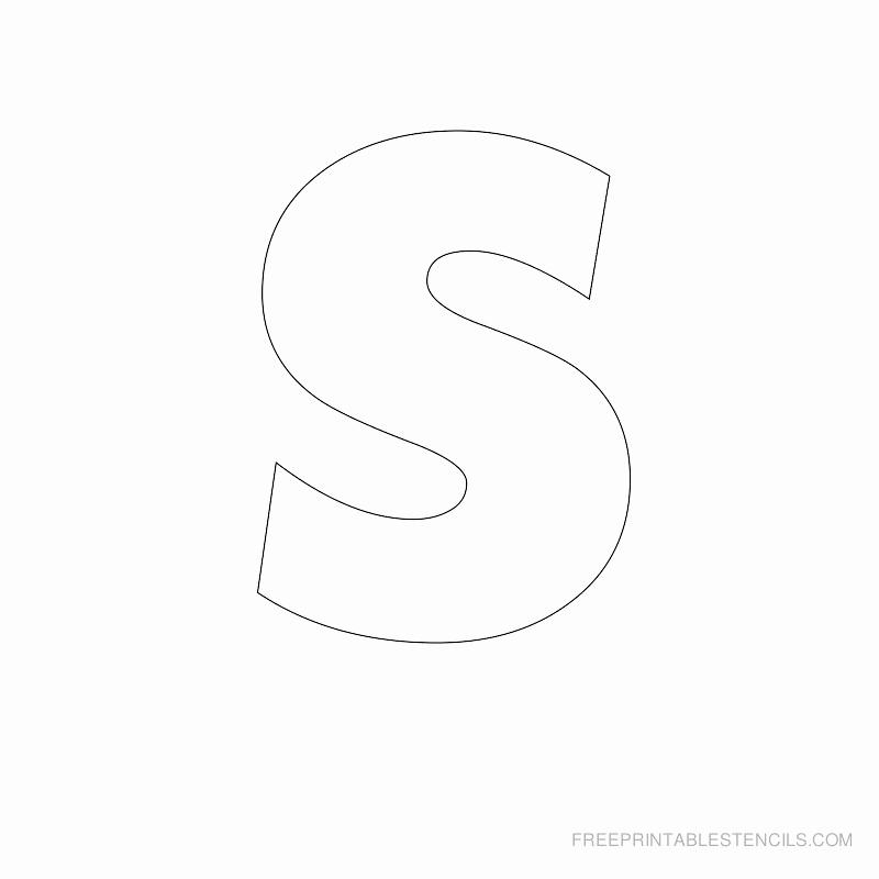 Letter Stencils to Print Unique Big Letter Printable Stencils A to Z