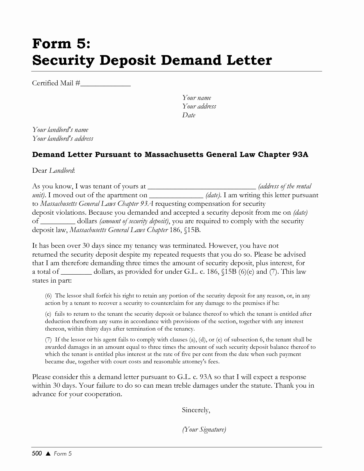 Letter to Land Lord Best Of Demand Letter to Landlord Template Samples