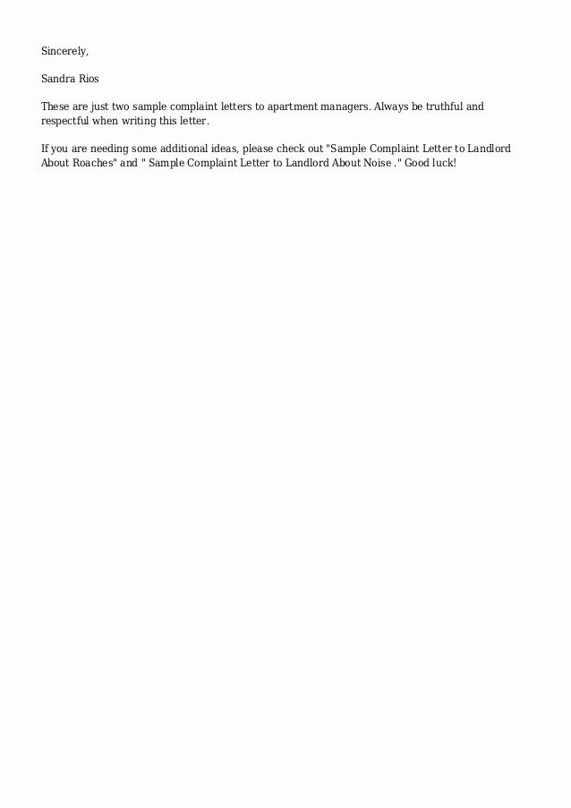 Letter to Land Lord Best Of Sample Plaint Letter to Landlord About Repairs Yahoo