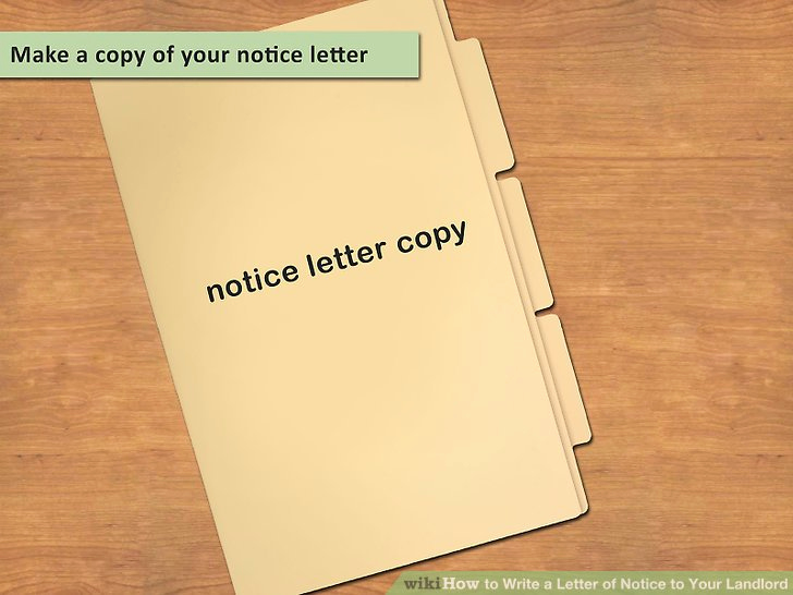 Letter to Land Lord Elegant How to Write A Letter Of Notice to Your Landlord 14 Steps