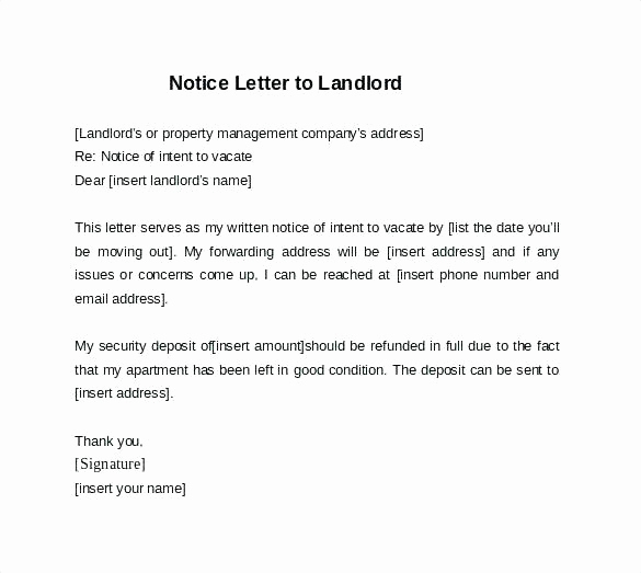 Letter to Landlord Moving Out Fresh 14 Notice to Landlords
