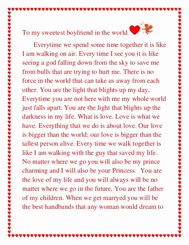 Letter to My Boyfriend Beautiful Love Letters to Your Boyfriend