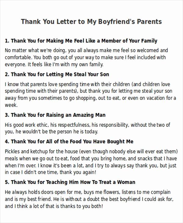 Letter to My Boyfriend Inspirational Sample Thank You Letter to My Boyfriend 5 Examples In