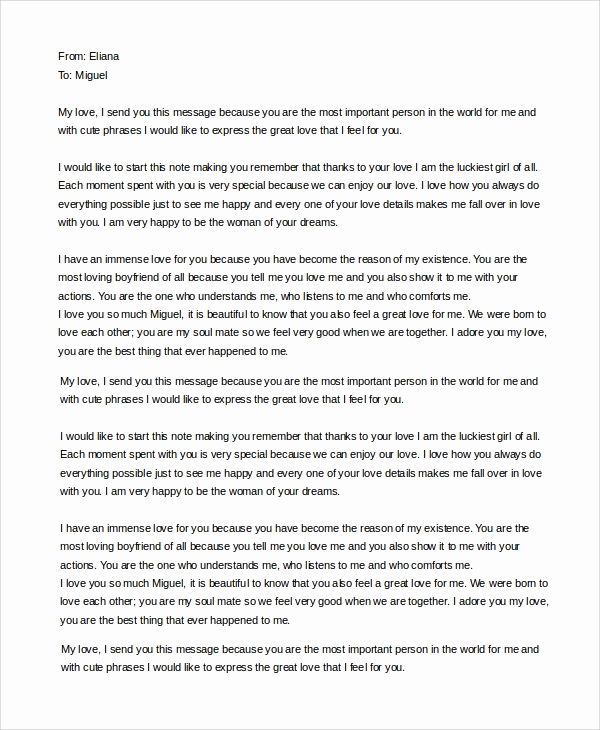 Letter to My Boyfriend Lovely Sample Love Letter to Boyfriend 7 Examples In Word