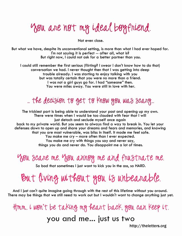 Letter to My Boyfriend Unique Romantic Love Letter for My Boyfriend