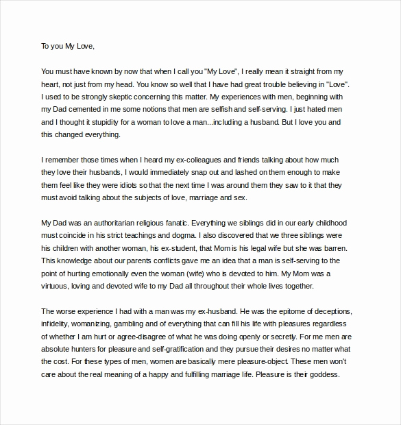 Letter to My Husband Best Of 11 Love Letter Templates to My Husband Doc
