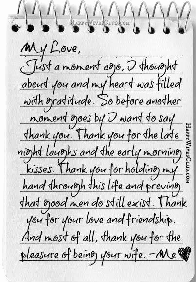 Letter to My Husband Unique Thank You for the Pleasure Of Being Your Wife