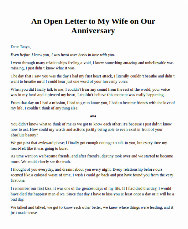 Letter to My Wife Beautiful Love Letter Examples