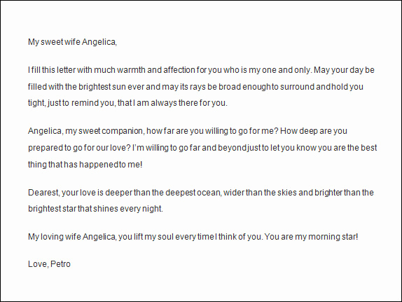 Letter to My Wife Best Of Love Letters to Wife
