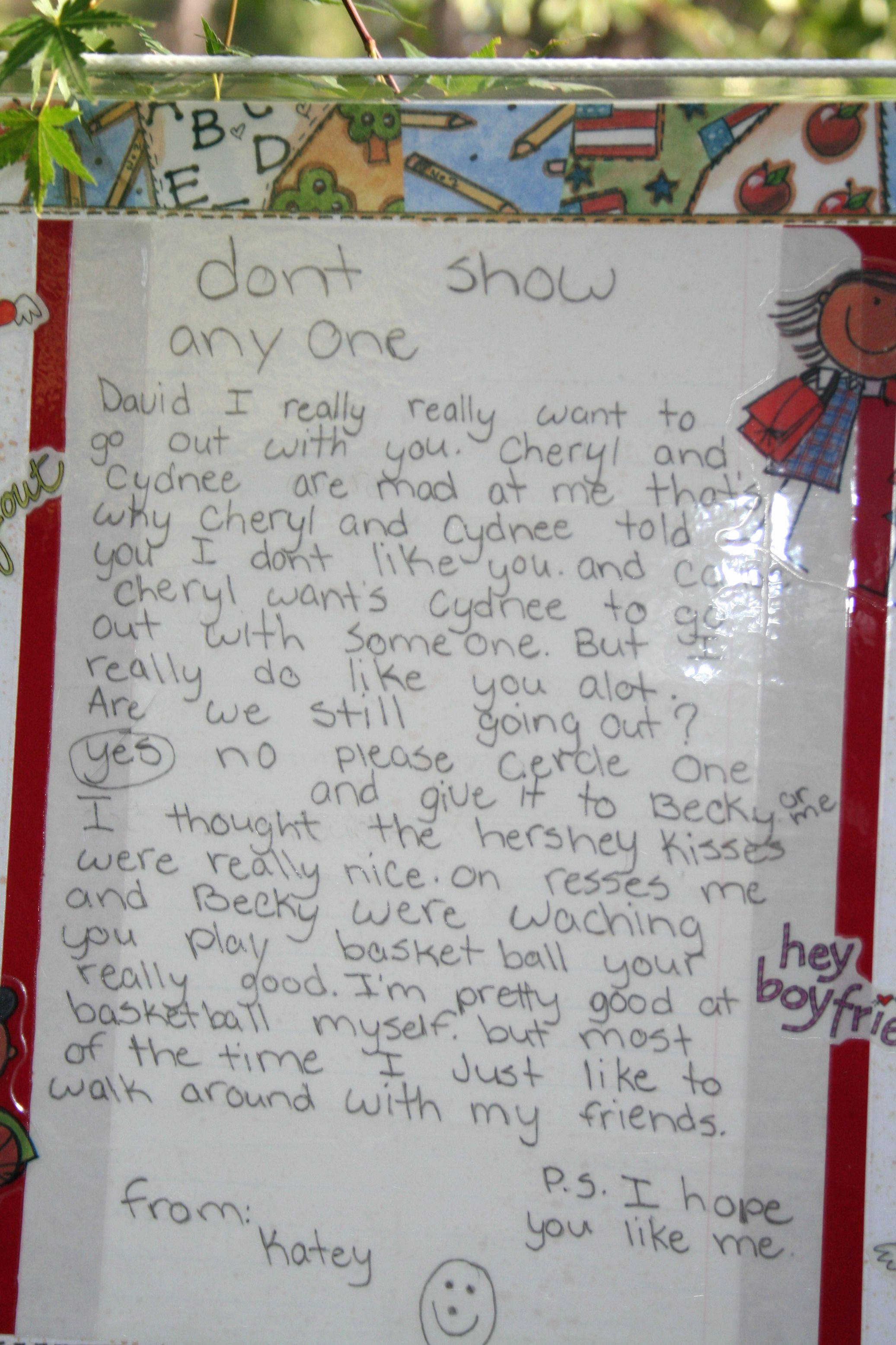 Letter to Your Girlfriend Lovely Kid Love Letter Fourth Graders Almost torn Apart then