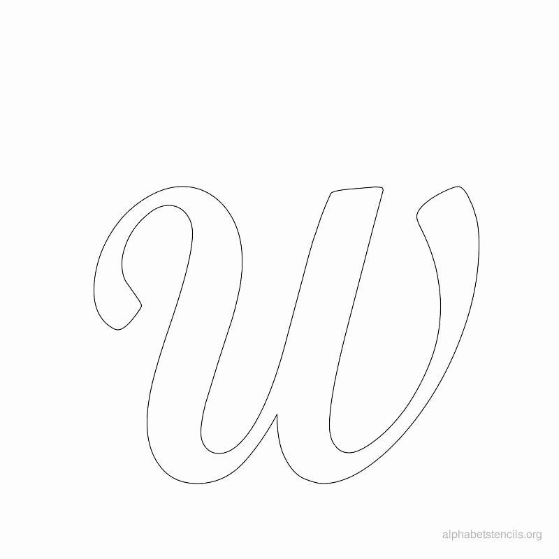Lettering Stencils to Print Beautiful Print Free Alphabet Stencils Cursive W