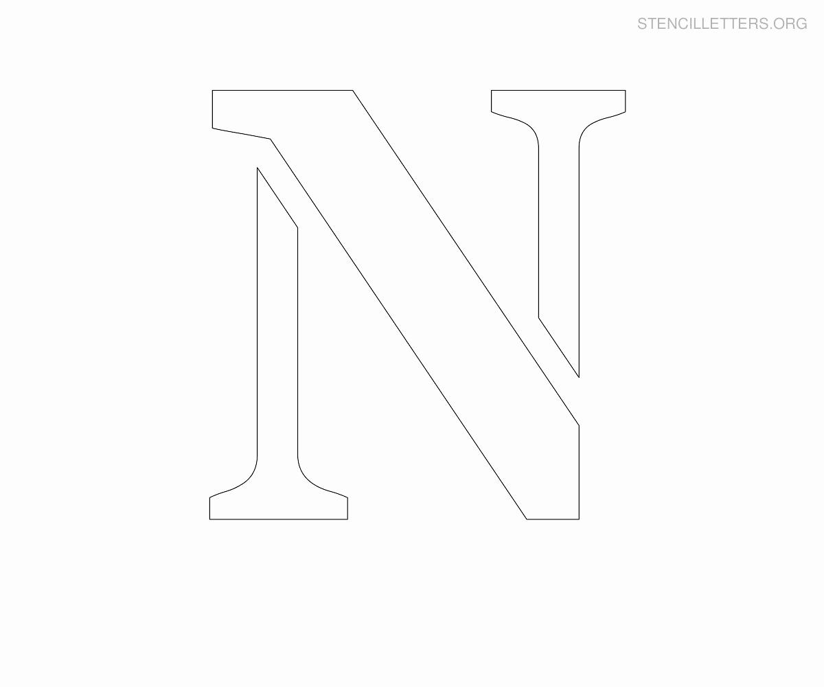 Lettering Stencils to Print Fresh Stencil Letters N Printable Free N Stencils