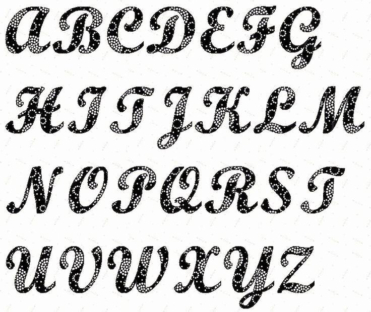 Lettering Stencils to Print Inspirational Alphabet Script 4 Inch Stencil