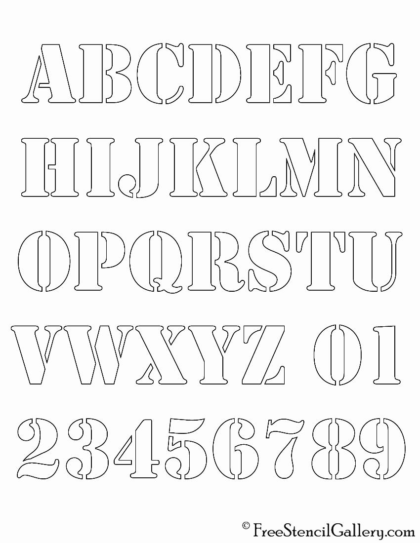 Lettering Stencils to Print Inspirational Alphabet Stencil