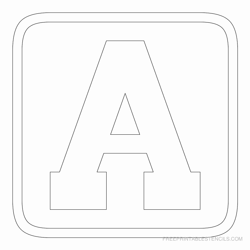 Lettering Stencils to Print Inspirational Printable Block Letter Stencils