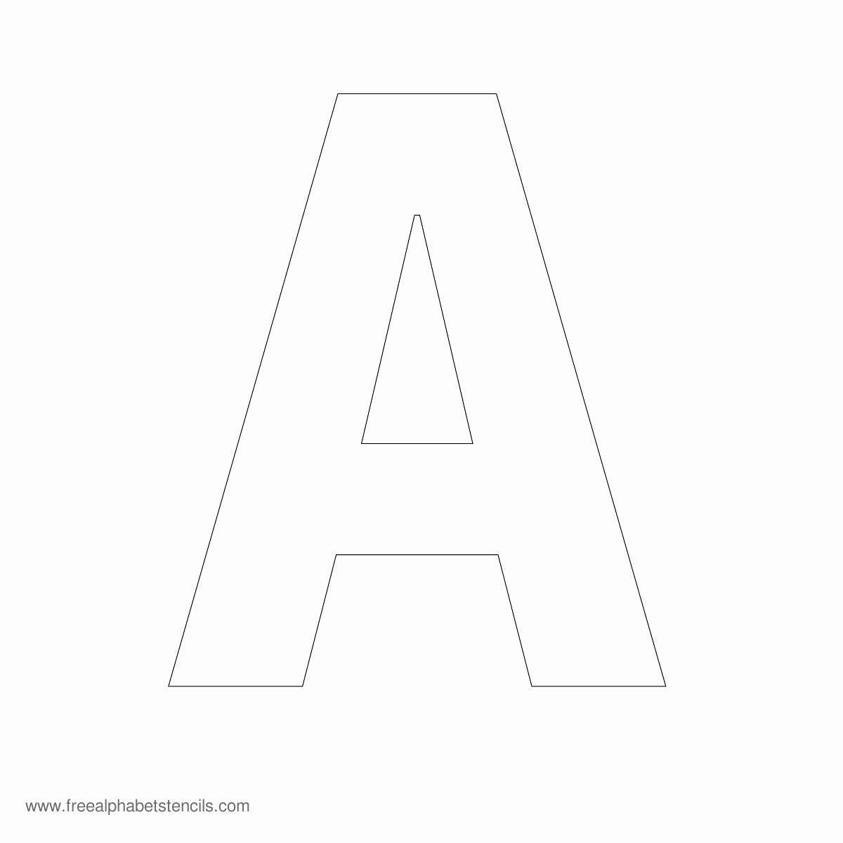 Lettering Stencils to Print Lovely Alphabet Stencils