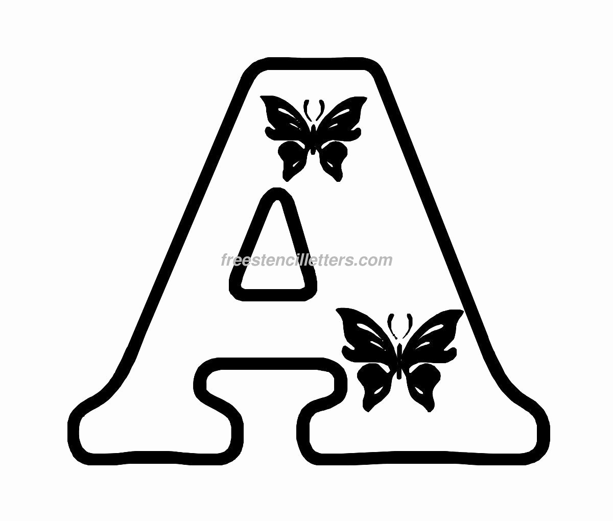 Lettering Stencils to Print Lovely Free butterfly Stencils to Print