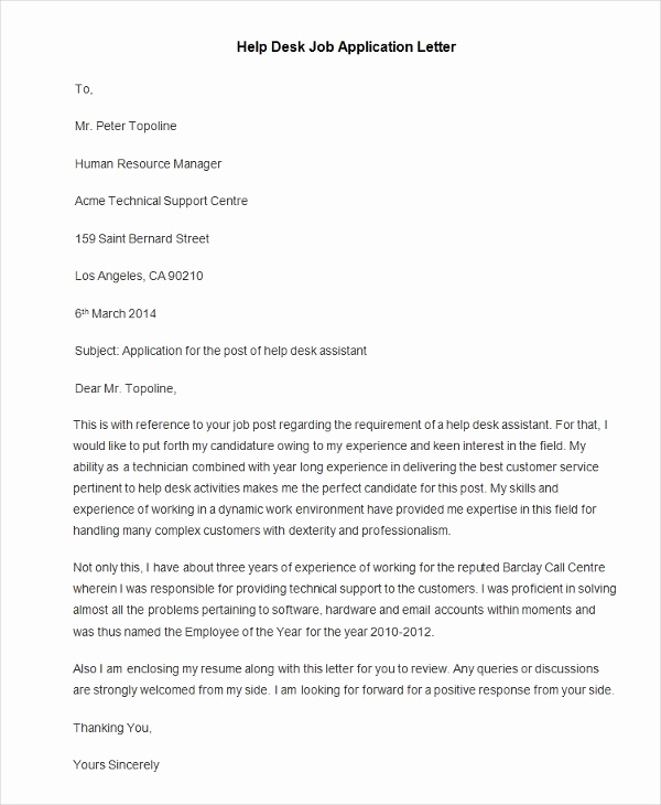 Letters Of Application Example Awesome Download Free Application Letters