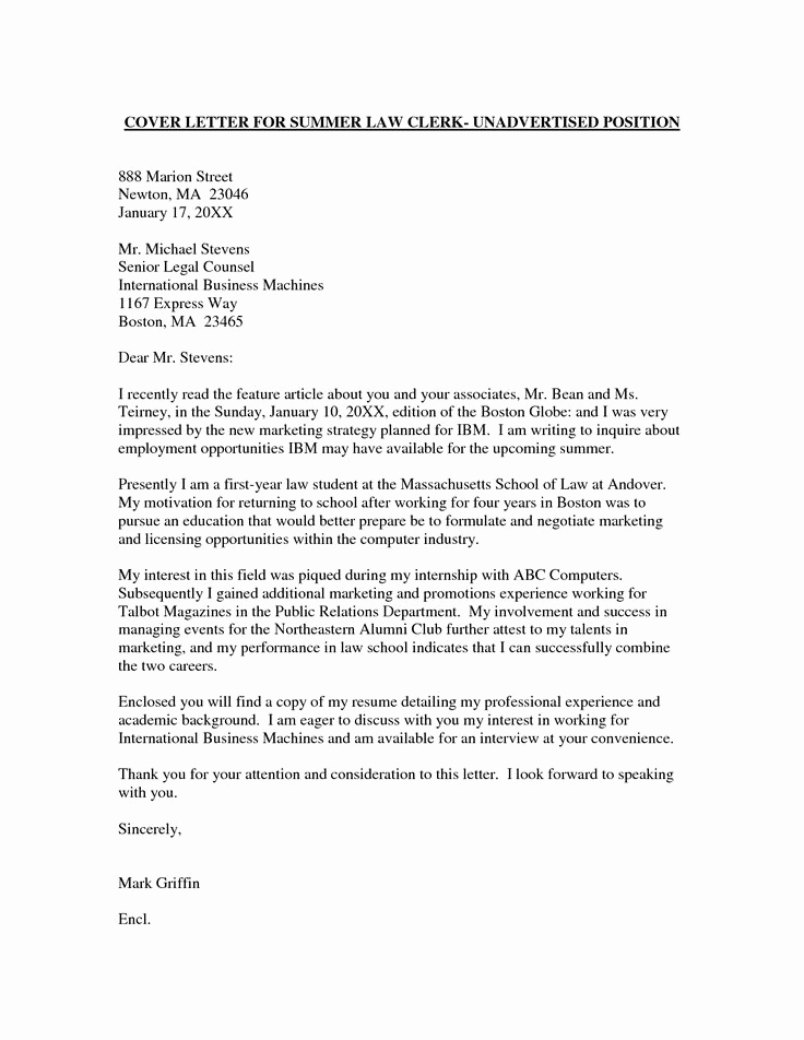 Letters Of Application Example Inspirational Employment Cover Letter Template Wondercover Letter