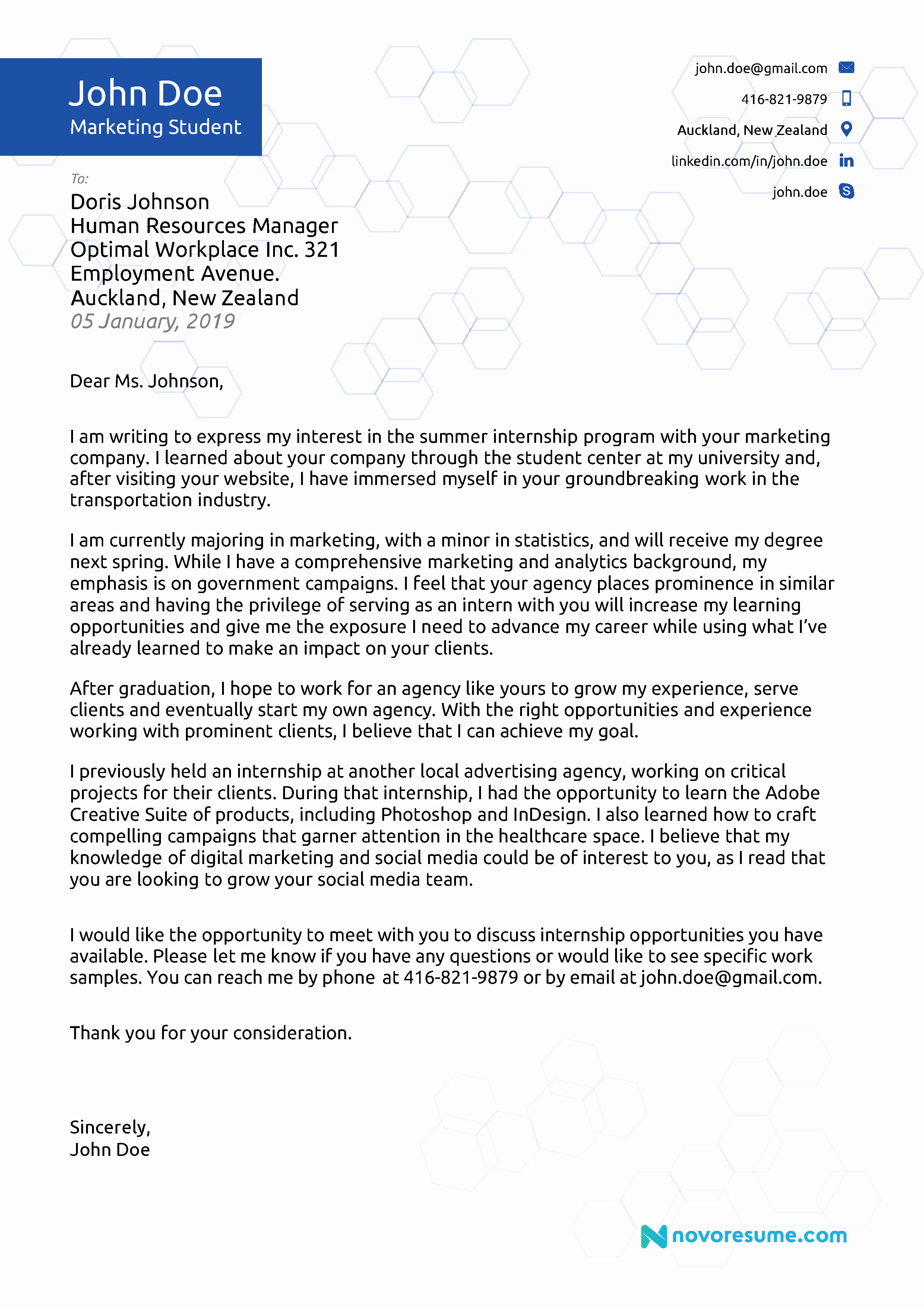 Letters Of Application Examples Fresh Cover Letter Examples for 2019 [ Writing Tips]