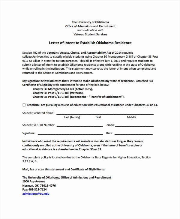 Letters Of Intent for College New 10 Sample Letter Of Intent for University Pdf Doc