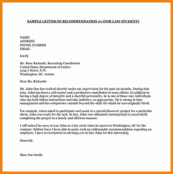 Letters Of Recommendation for College Beautiful 8 College Letter Of Re Mendation Template