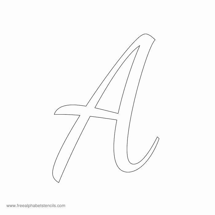 Letters Stencils to Print Awesome Read Article 1950s Casual Cursive Alphabet Stencils