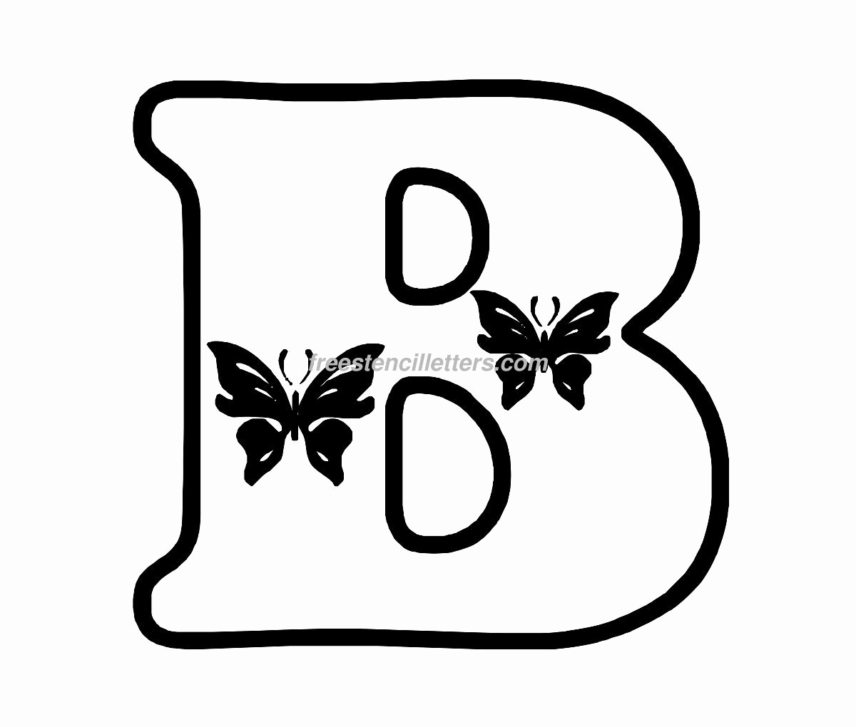 Letters Stencils to Print Beautiful butterfly Stencil Letters Archives Free Stencil Letters