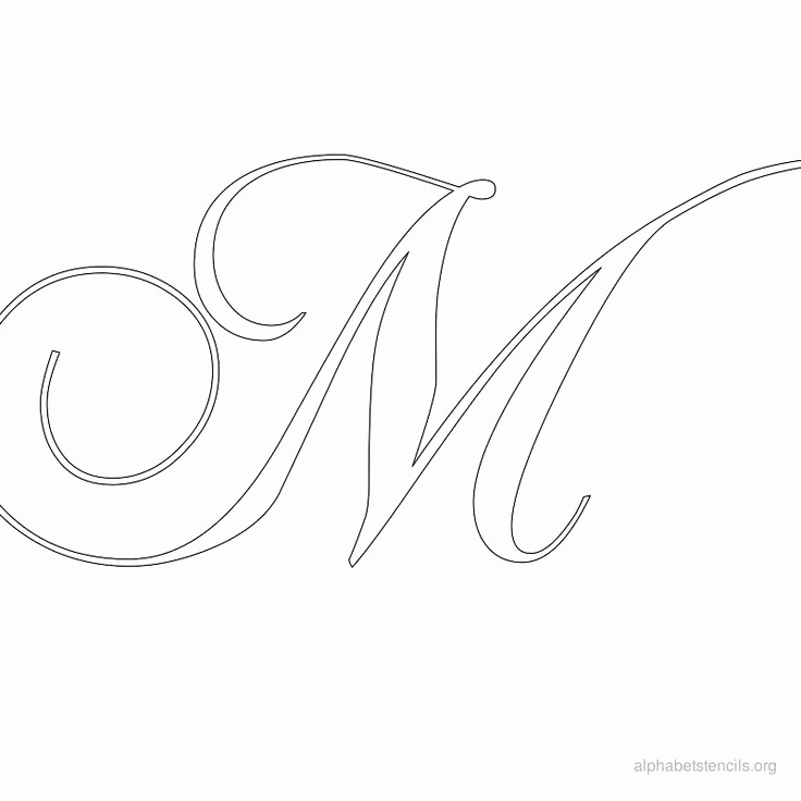 Letters Stencils to Print Beautiful Free Calligraphy Printable Alphabets
