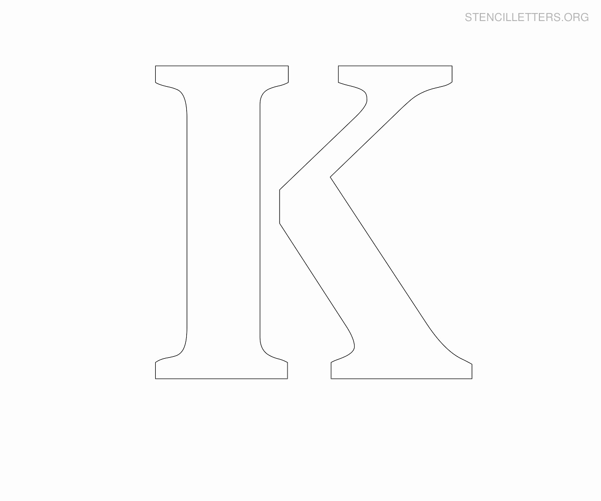 Letters Stencils to Print Best Of Stencil Letters K Printable Free K Stencils
