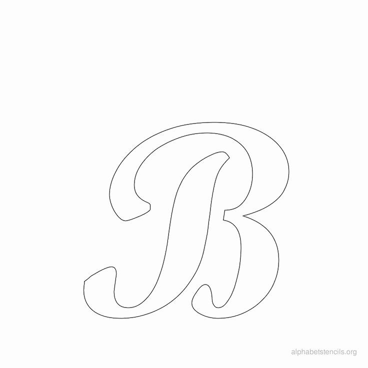 Letters Stencils to Print Fresh Print Free Alphabet Stencils Cursive B Cj
