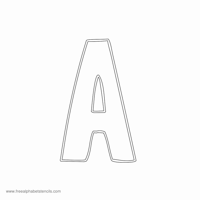 Letters Stencils to Print Inspirational Free Printable Stencils for Alphabet Letters Numbers